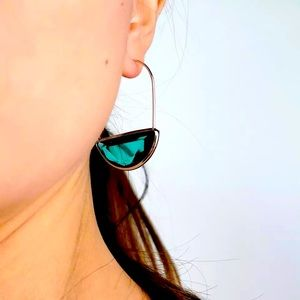 🌈2/$30 New Anthro Faceted Crescent Earrings